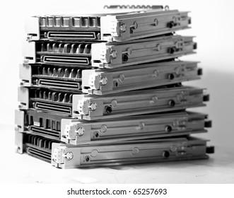 Spare server disk drives