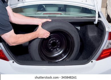 Spare tire remove procedure