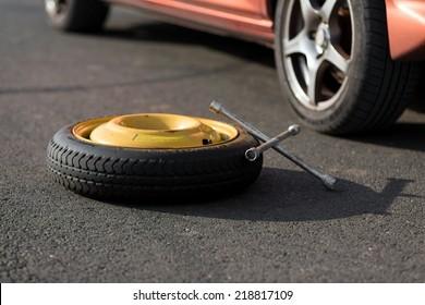 Spare wheel of a car