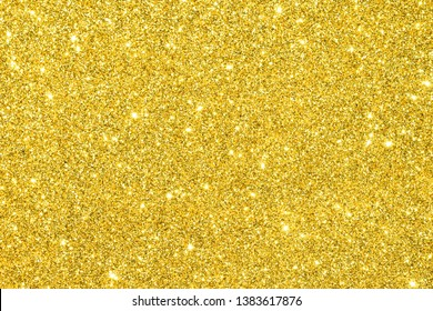sparkle of gold glitter texture background