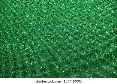 sparkle of green glitter texture background