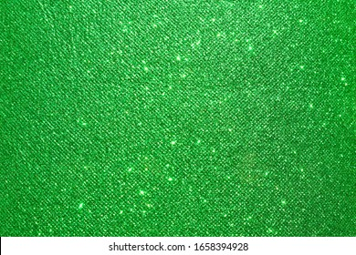 sparkle of green glitter texture background