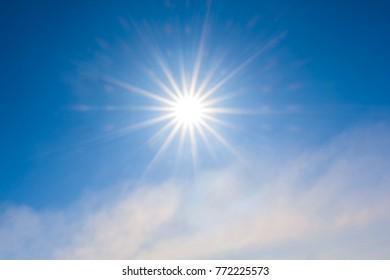 sparkle sun on a blue sky