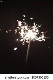 Sparkler or Bengal lights.