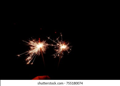 Sparkler at the night