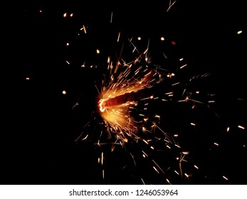 Sparklers on a black background