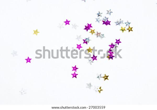 sparkles on white background