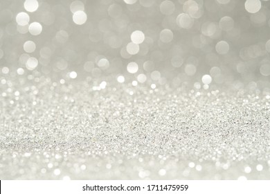 sparkles of Silver glitter abstract background