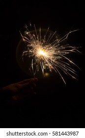 Sparkling Cracker in the hand during the festival of Diwali in India