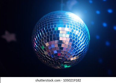 Sparkling disco ball. Concept of night party.