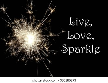 Sparkling Firework Inspirational Motivational Quote You Stock Photo