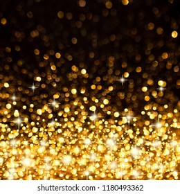 Sparkling Golden Christmas or Party Background