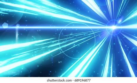 sparkling graphic particles. 3d illustration, 3d rendering