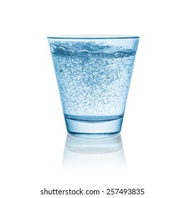 sparkling mineral water in a glass