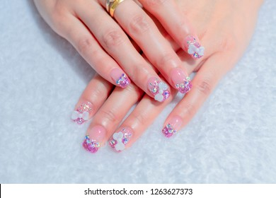 Luxury Sparkling Pink Purple Glitter Gel Stock Photo Edit Now