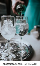 Sparkling Water in a Glass