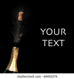 Sparkling wine with blank area for your text