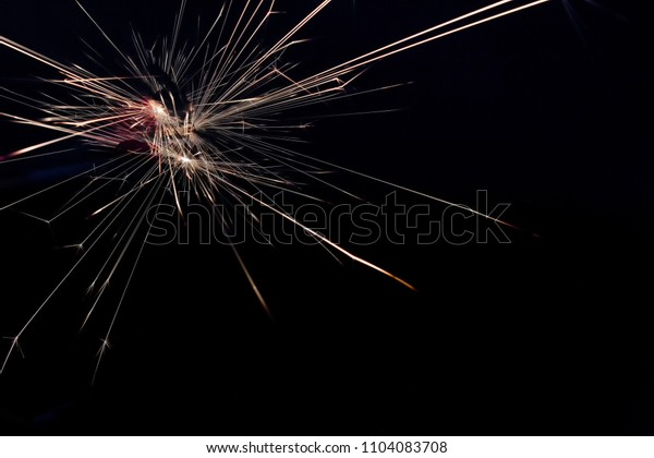 Sparks caused by anode and negative touch.