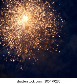 Sparks. Fireworks are a class of explosive pyrotechnic devices used for aesthetic and entertainment purposes.