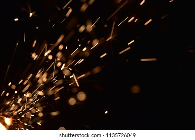 Sparks and Flash from electric welding