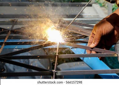 Sparks Welding Steel Working Stock Photo (Edit Now