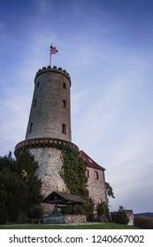 The Sparrenburg Tower after Sunset, Bielefeld, Germany