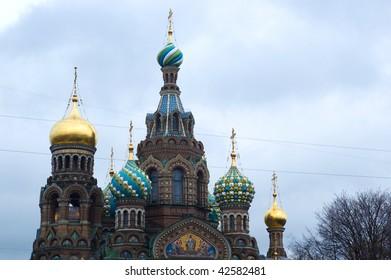 Spas-na-krovi cathedral, St.Petersburg, Russia.