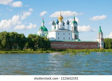 Spaso-Yakovlevsky Dmitrovsky monastery in the July sunny day. Rostov Veliky, Golden Ring of Russia