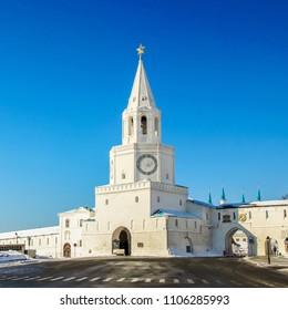 Spasskaya (Saviour) Tower of Kazan Kremlin, tatarstan, Russia