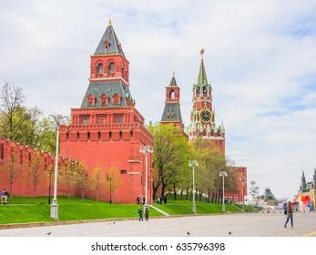 Spasskaya tower of Kremlin, Moscow, Russia