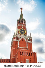 The Spasskaya Tower is the main tower on the eastern wall of the Moscow Kremlin which overlooks the Red Square.