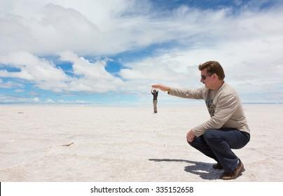 Spatial perspective on the lake Salar de Uyuni, Bolivia