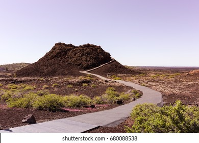 Spatter Cone trail in Craters of the Moon National Monument & Preserve, Idaho, USA