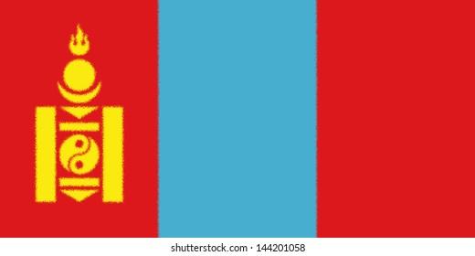 Spatter flag illustration of Mongolia