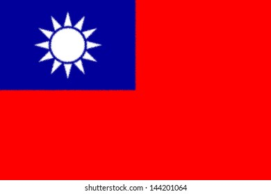 Spatter flag illustration of Taiwan