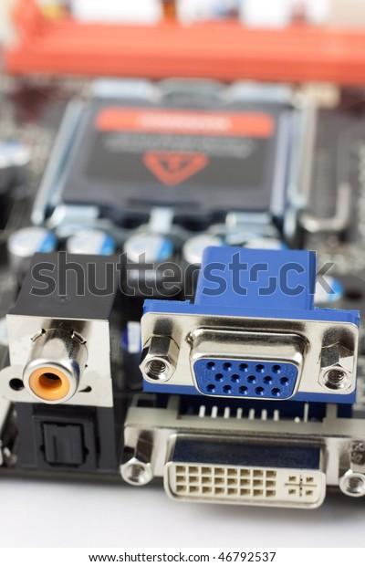 Spdif Coaxial Optical Vga Dvi Ports Stock Photo (Edit Now) 46792537