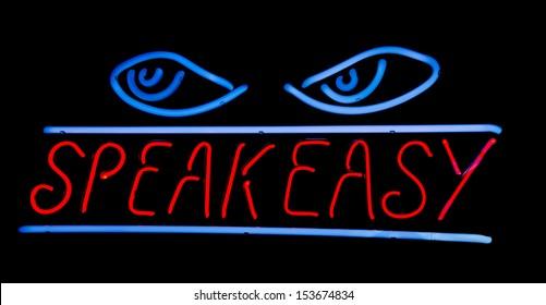 Speak Easy Neon Sign