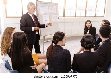 Speaker at Business meeting roon or conference room and audience.