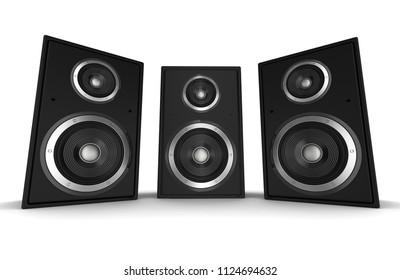 speaker concept 3d illustration isolated on white background
