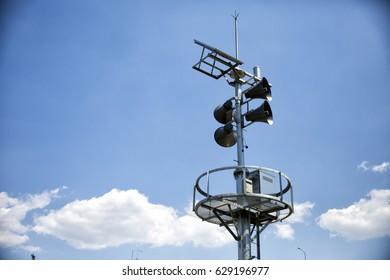 Speaker for external broadcasting - horizontal