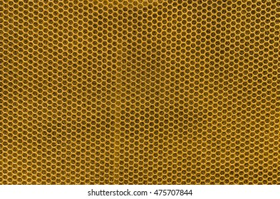 Speaker grille, Golden metal background