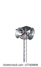 Speaker horn on white background