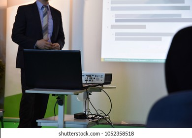 speaker at a presentation