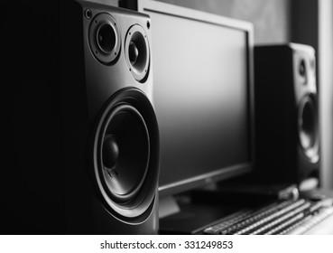 Speaker at recording studio