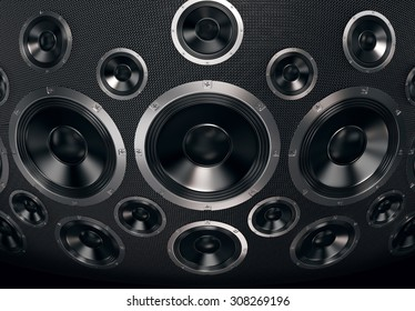 Speakers Abstract Background. 3D Render