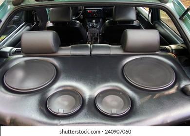 speakers in the car