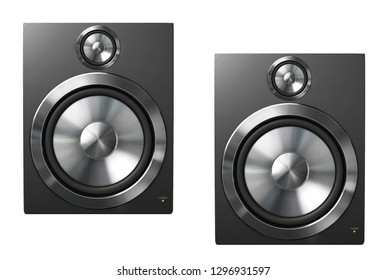 Speakers isolated on a white background