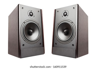 speakers isolated on white background