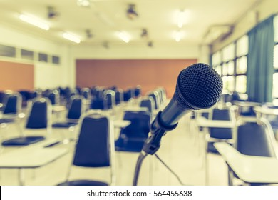 Speaker's microphone in seminar meeting room