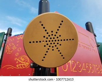 speakers on playground